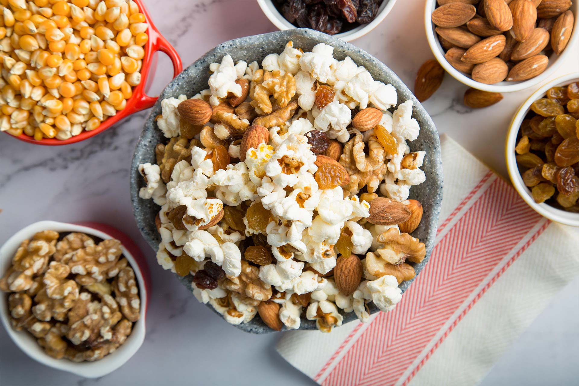 Almond, Walnut, Raisin & Popcorn Trail Mix