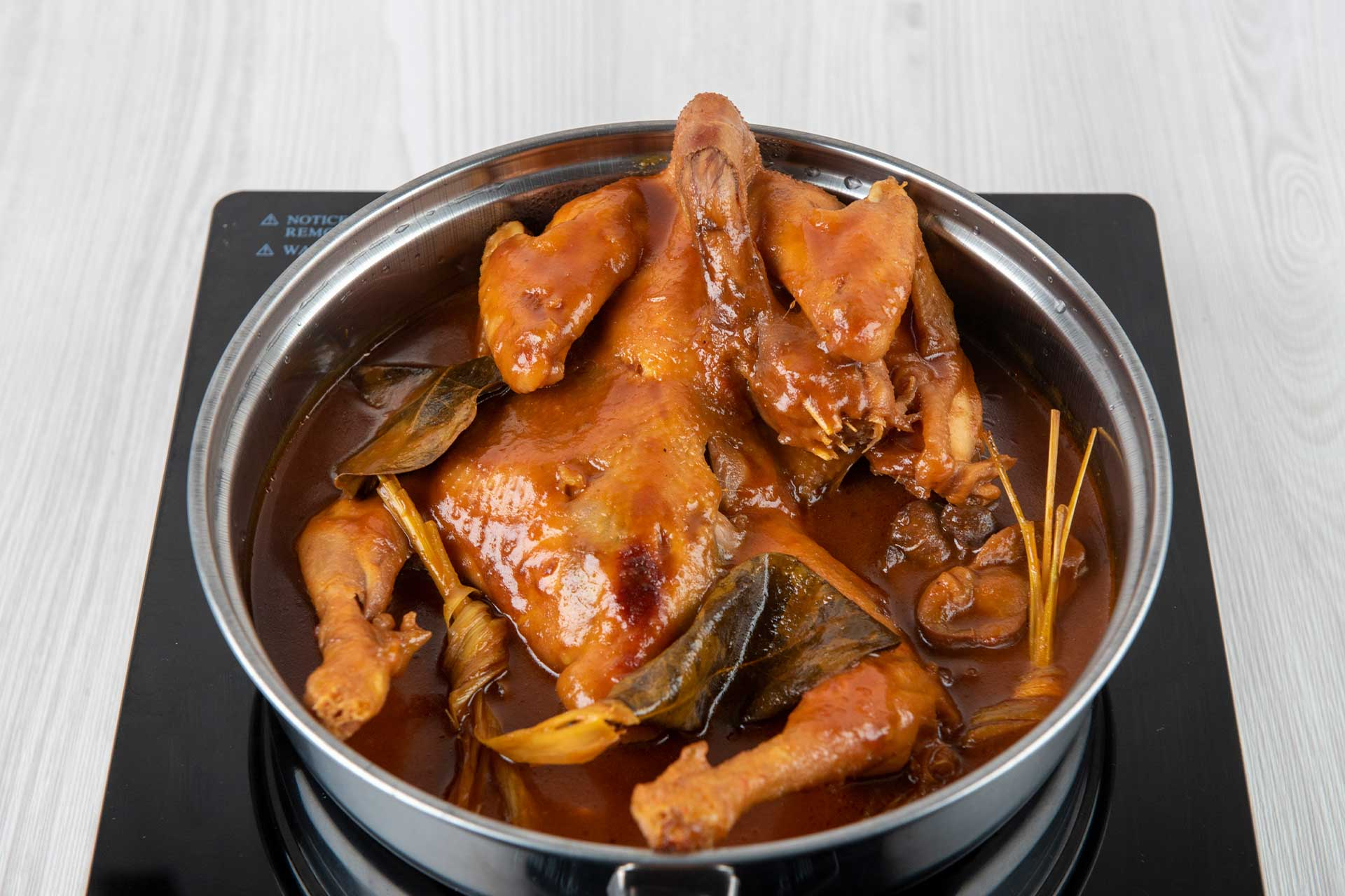 Cook the chicken in broth