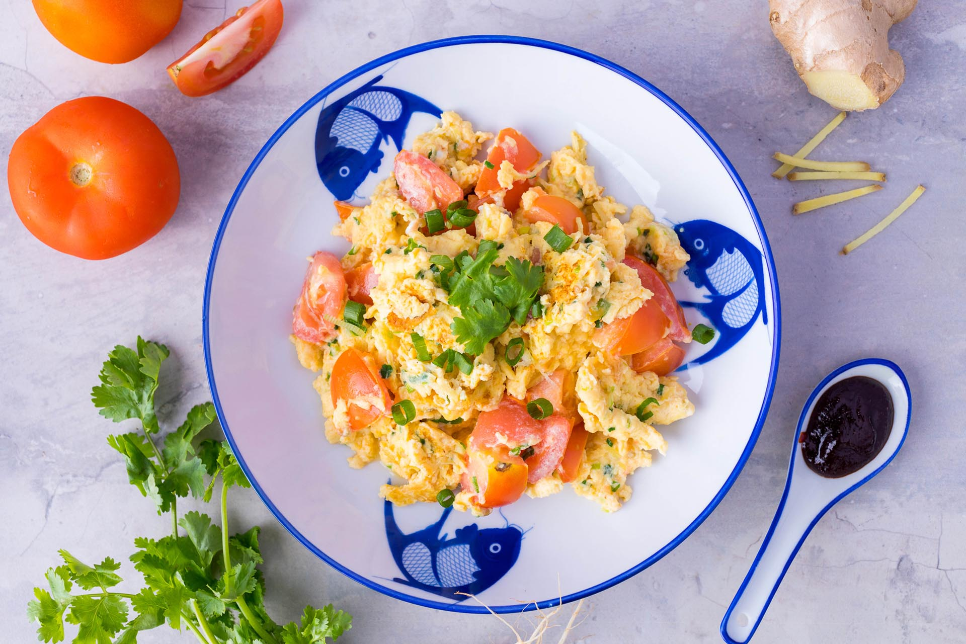 Chinese Style Scrambled Egg With Tomato