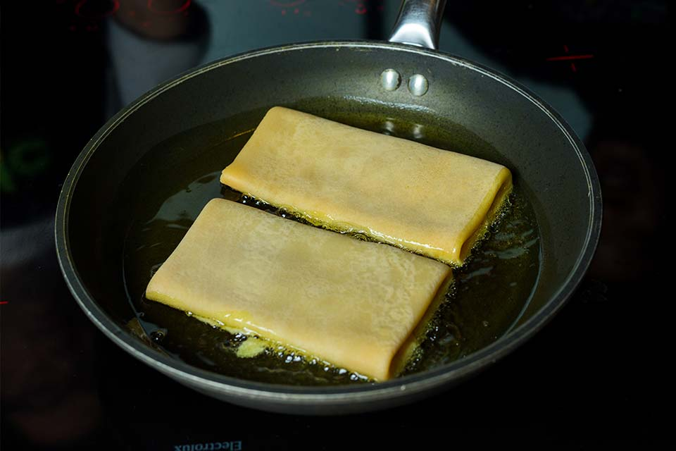 Cook and fill crepes