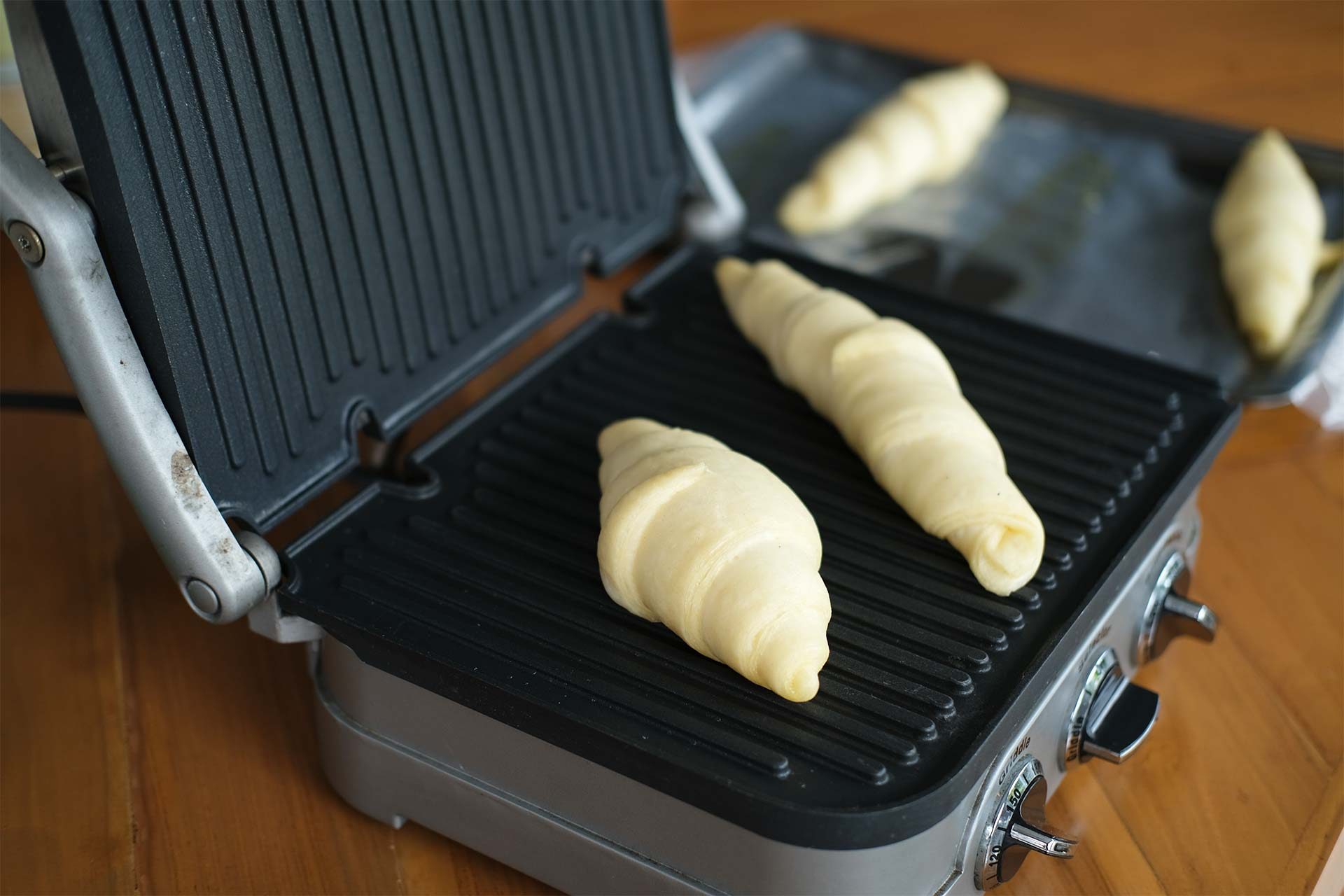 Grilling the pastry