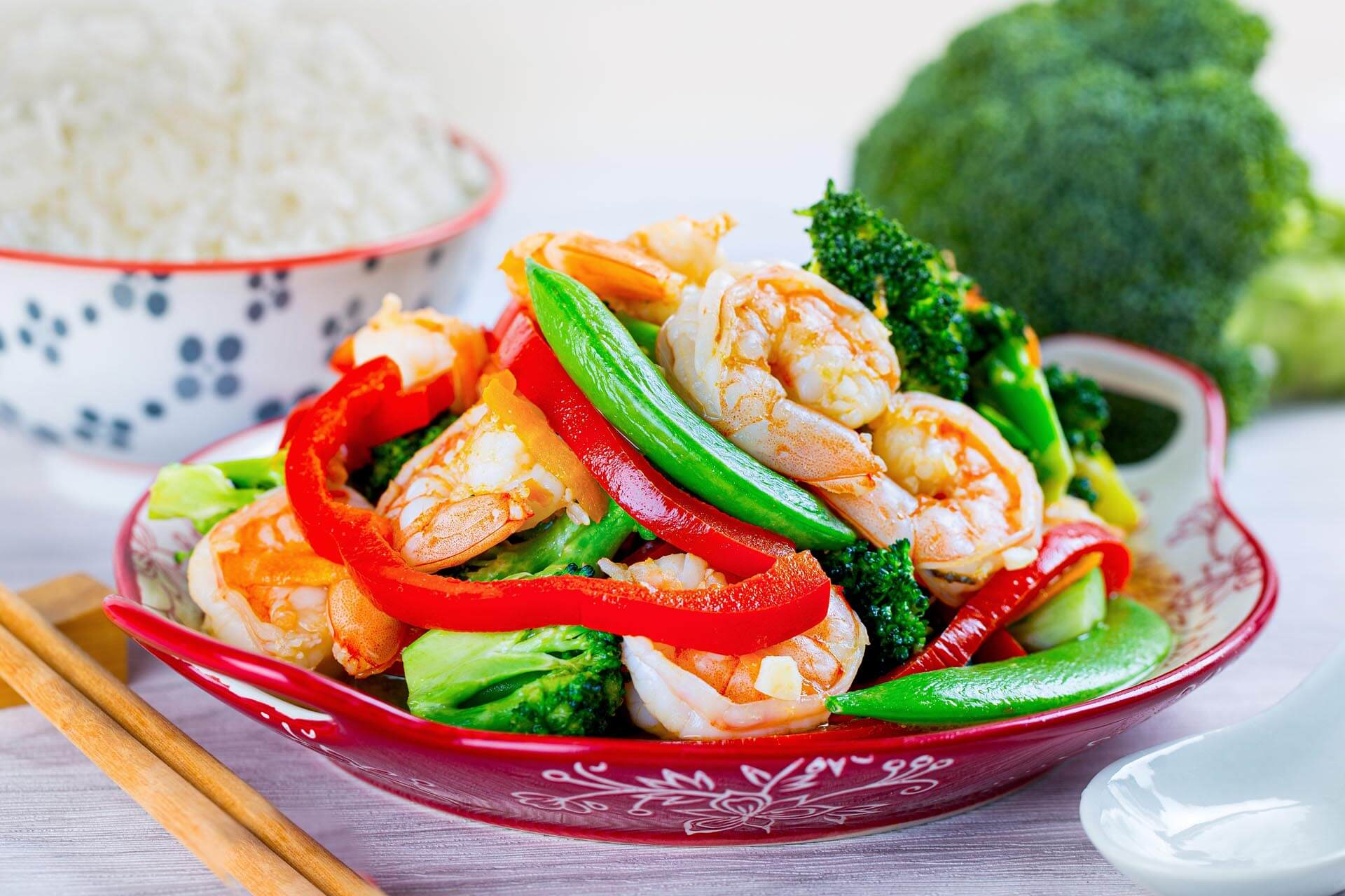 Prawns & Vegetable Stir Fry