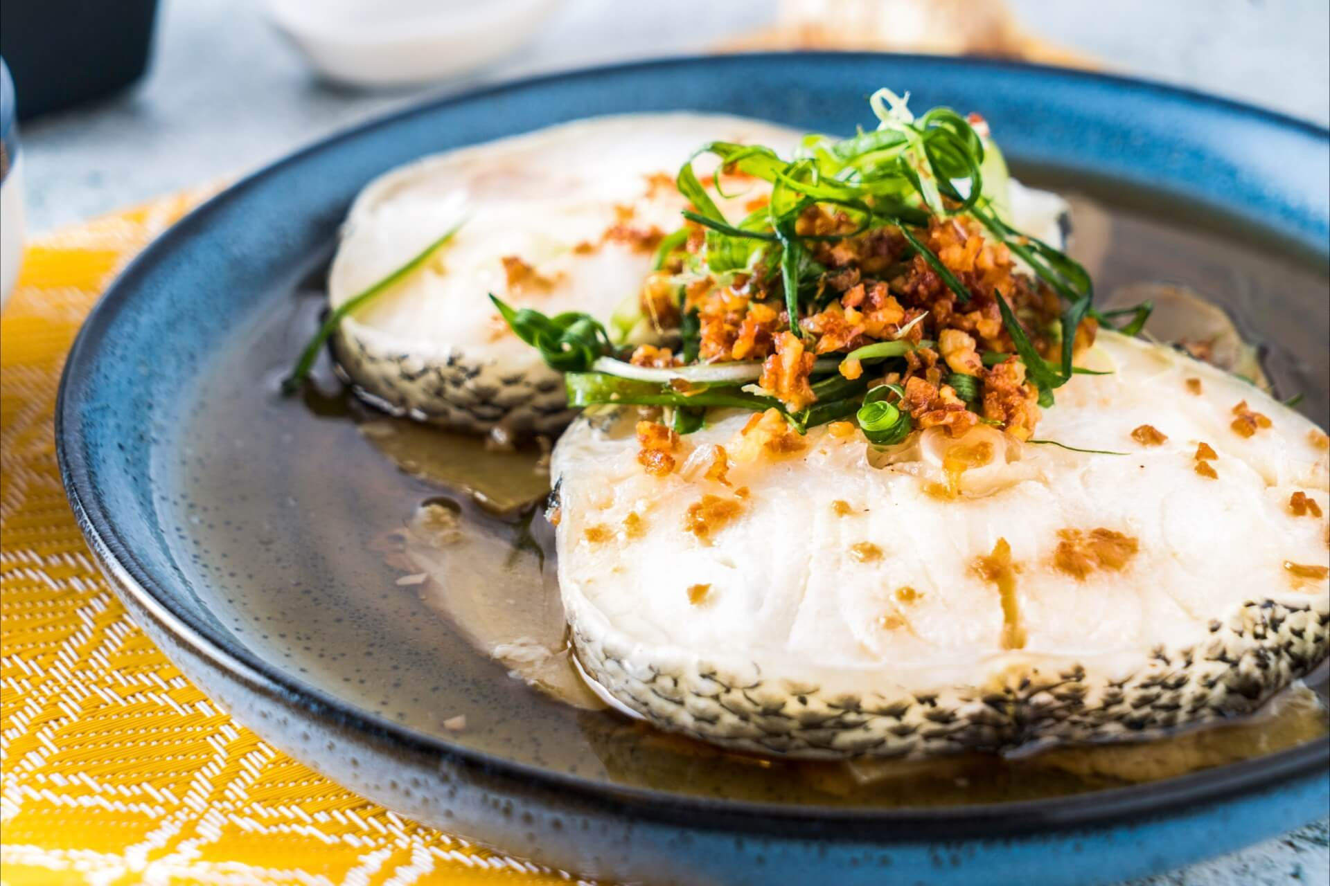 Steamed Cod with Soy Sauce