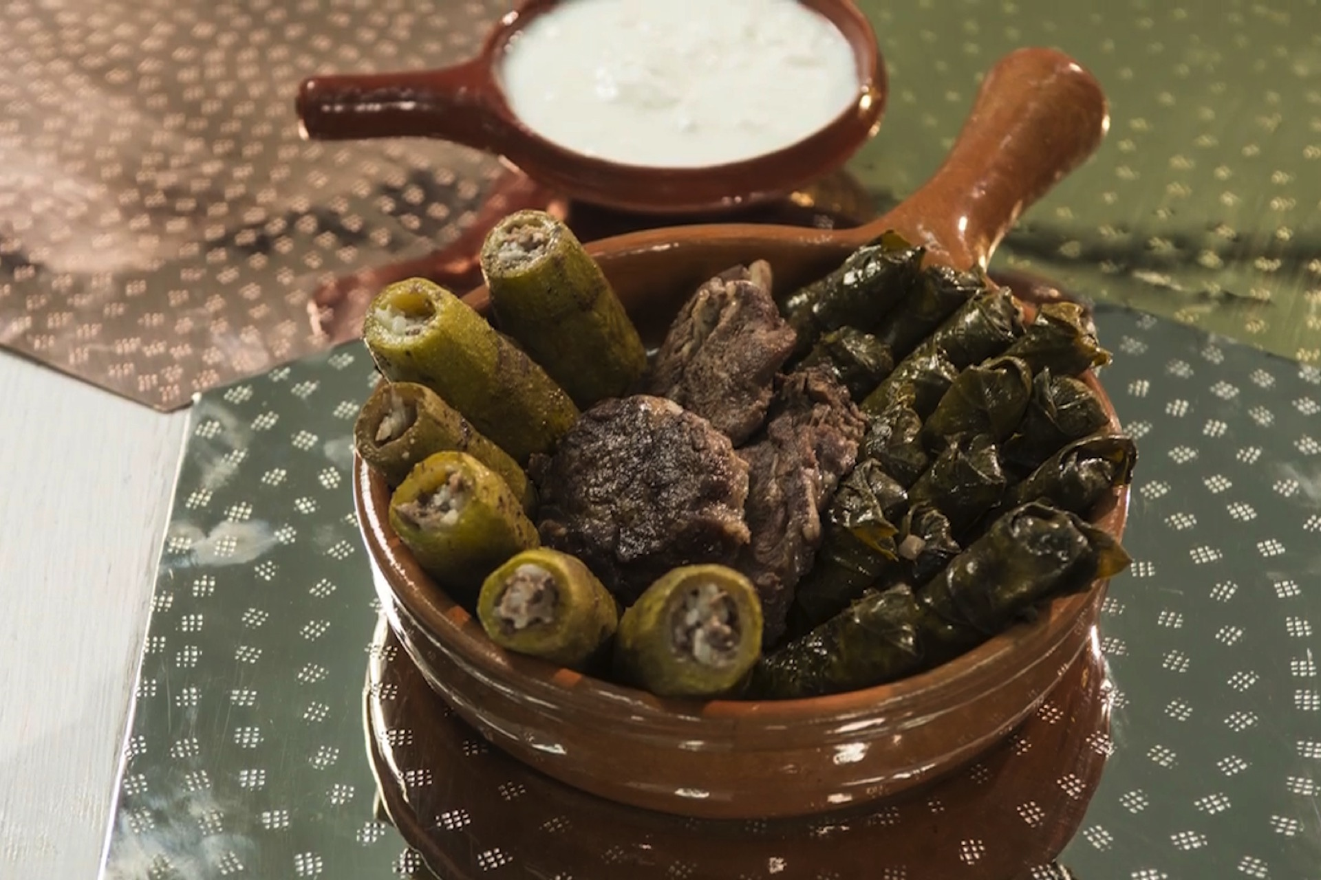 Stuffed Grape Leaves And Zucchini