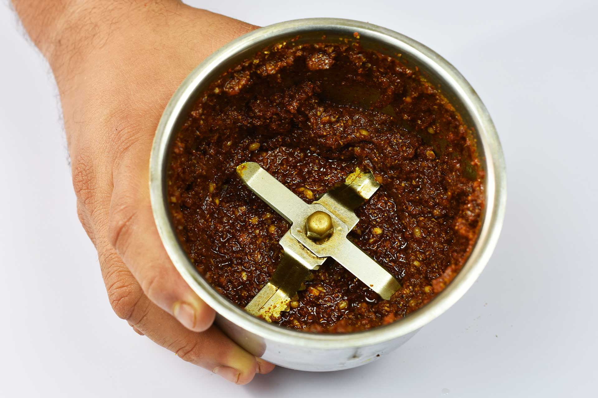 Making the spice paste