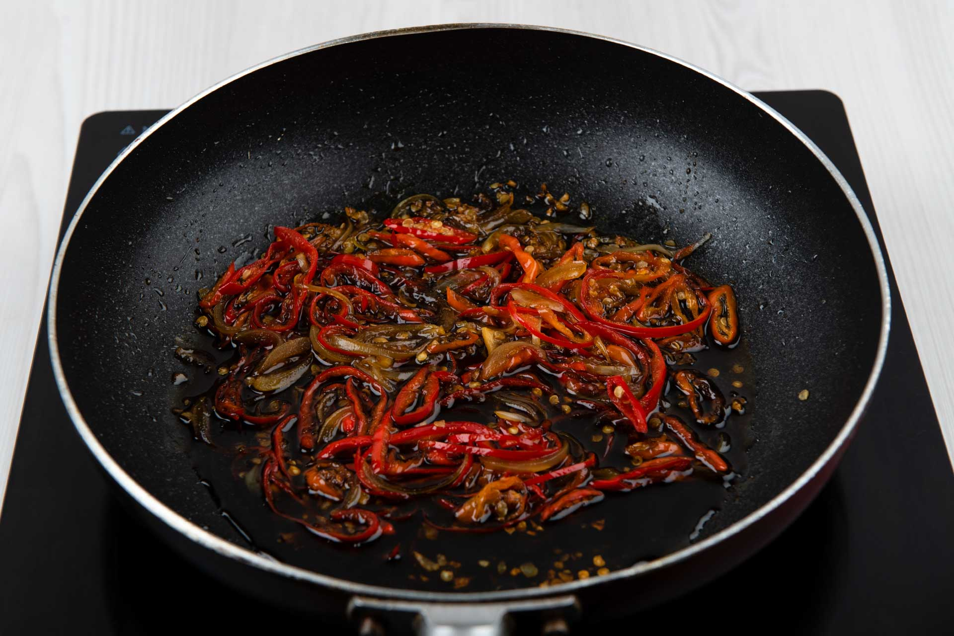 Making Spicy Soy Sauce